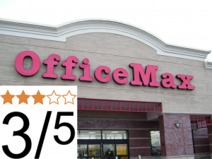 OfficeMax Review 3 out of 5 stars